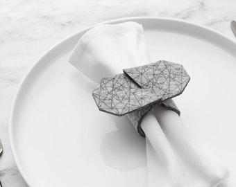 Diamond Napkin Ring - set of 2, 4 or 6