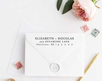 Return Address Stamp, Address Stamp, Custom Address Stamp, Wedding Return Address Stamp, Personalized Return Address Stamp, Rubber Stamp 107