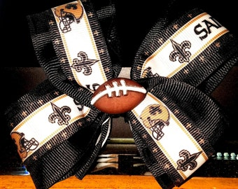 New Orleans Saints Hair Bow