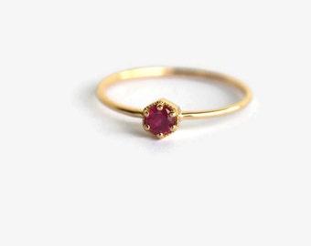 ruby ring, ruby engagement ring, genuine ruby ring, ruby ring gold, hexagon ring, hexagon ring gold, hexagon engagement ring