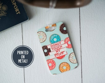 Luggage Tag - Long Distance Gift - Millennial Pink - Doughnut - Travel Gifts for Mom