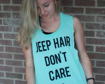 Jeep Hair Dont Care Tank