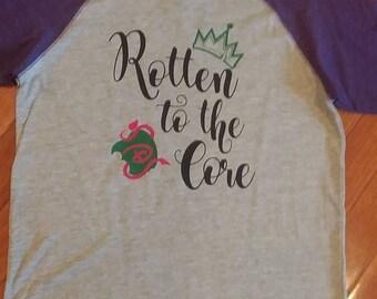 Disney Descendants Inspired Rotten To The Core Raglan Shirt