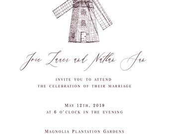 Custom Watercolor Venue Illustration for Invitations, Keepsake, Wedding Gift, Wedding Invitations