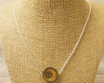 Carved Crescent Moon Necklace
