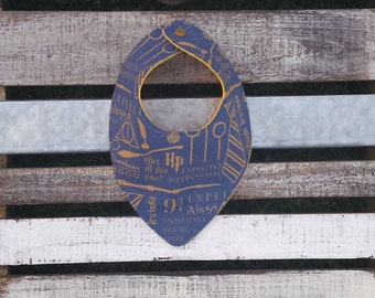 Harry Potter Ravenclaw blue and gold dribble and drool bib for babies and toddlers