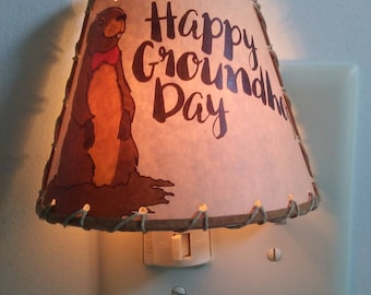 Happy Groundhog Day Collection Nite Lite