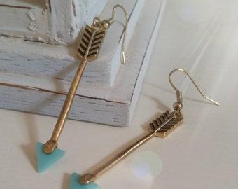 Golden Arrow Earrings
