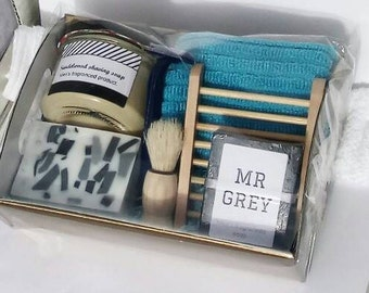 Unique dad gift - handmade shaving soap gift basket for dad - gift for him - fathers day present - dad gift