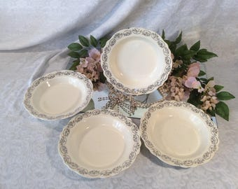 Homer Laughlin Set of Four (4) Soup Bowls
