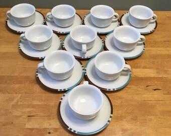Japanese Dansk Cups & Saucers (Set of 10)