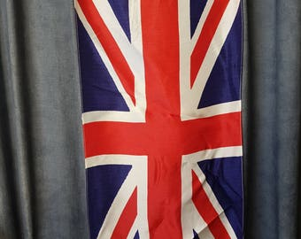 Vintage Silky UK Flags Set of Two British Flags