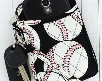Personalized Baseball Quilted Wristlet
