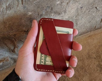 The Wraptor, leather minimalist wallet, front pocket wallet, leathet wallet handmade, personalized wallet,Monogram wallet, personalized gift