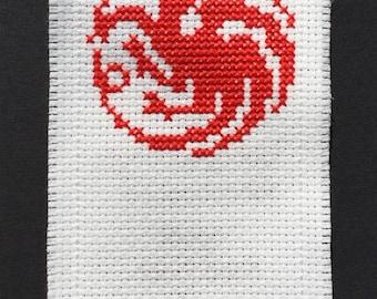 Handcrafted cross stitch bookmark
