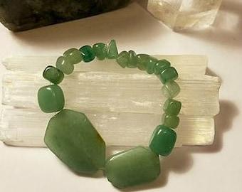 Green Aventurine Crystal Stretch Bracelet small