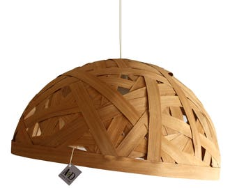 Braid: Suspension lamp with semi-spherical shell