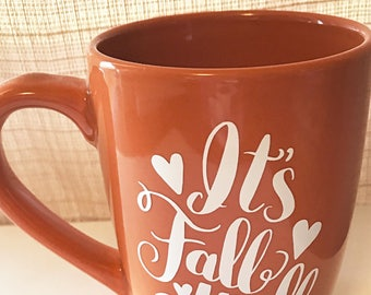 It's Fall Y'all coffee mug and decal, fall mug, fall quote decal