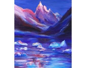 Original art, Original acrylic painting,  landscape art, contemporary art, bright art, Home Decor, Modern Art, gift for women, hand painted