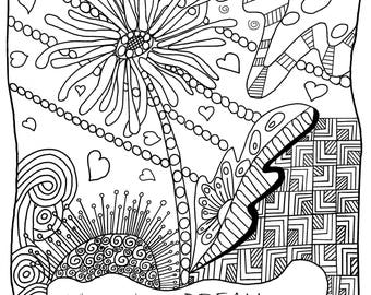 Coloring Pages for All Ages with Inspirational Quotes