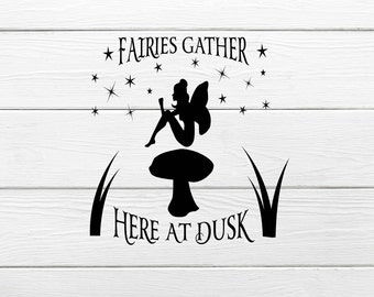 Fairy Decal , Fairies , I believe in fairytales vinyl decal , sticker , Fairytale kids decal
