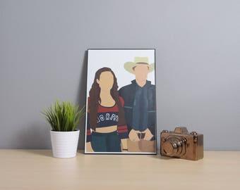 Wayhaught (Waverly Earp + Nicole Haught) [Wynonna Earp] | Digital Art | 11x17 Poster
