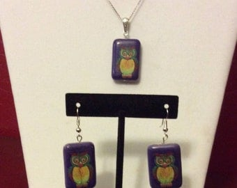 REDUCED / Jewelry Set / Earrings and Pendant set