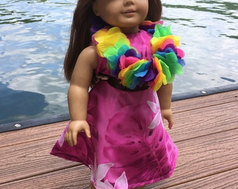 18 inch doll Hawaiian Dress
