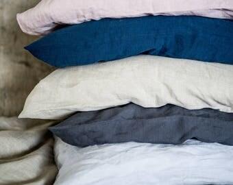 Linen Pillowcase, stonewashed linen, softened linen bedding, different sizes, pillow sham, pillow slip, different colors