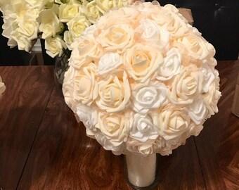 Flower Kissing Balls, Rose balls, Pomander ball, Centerpiece, Centerpiece balls, Foam Flower Balls.