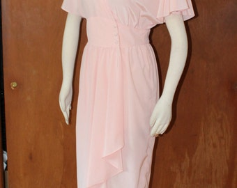 "Sz. Small, petite, Vintage 1980's flirty, feminine dress, 28"" waist"