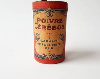 Vintage Cérébos Poivre Box, Pepper Shaker, Collectible