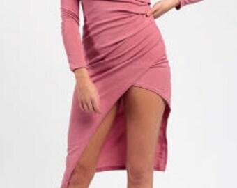 Choker Wrap Bodycon Dress