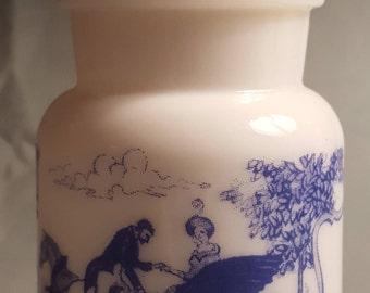 Vintage Milk Glass Apothecary Jar
