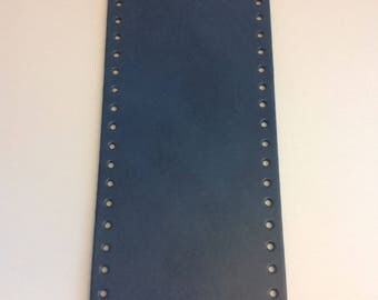 Bottom of bag made of eco leather - mineral - oval 36 x 12 cm