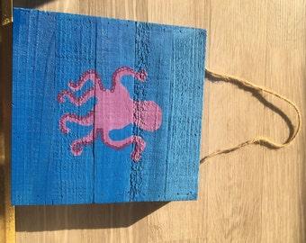 Wood Paneled Octopus Painting
