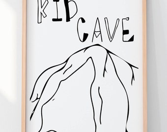 kid cave wall print playroom printable wall art for kids kids bedroom art