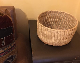 Hand made Ojibwe basket--some wear
