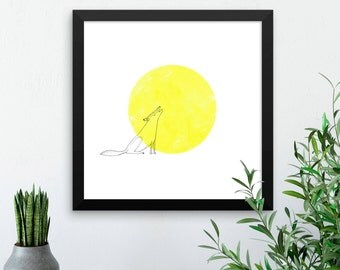 The Howling Wolf - Wall art