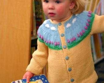 Toddler Girl Sweater, Fair Isle Sweater,