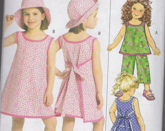B5019 Butterick Little Girls Sewing Pattern