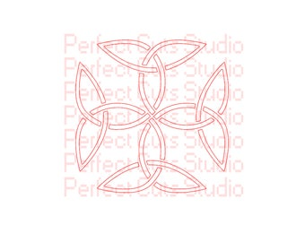 Celtic Carolingian Cross SVG and Studio 3 Cut Files Cutouts - for Silhouette Cricut Brother Stencil Irish Stencil Cuts SVGs File Stencils