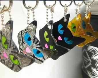 Cat head key chain
