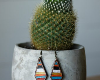 Serape Collection Amy Earrings | Leather Earrings | Birthday Gift | Anniversary | Gifts under 25 | Handmade | Gifts for Her