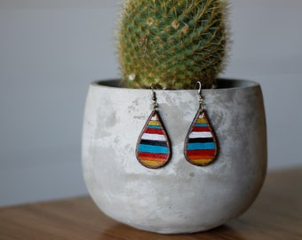 Serape Collection Sierra Earrings | Leather Earrings | Birthday Gift | Anniversary | Gifts under 25 | Handmade | Gifts for Her