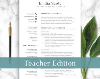 Federal Job Resume Template Word Teacher Resume  Etsy Business Resume Examples Word with Resume Examples For High School Student Word  Resume Templates Word Excel
