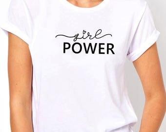Girl power shirt, Women shirt, Unisex shirt, Fashion shirt, Feminist shirt, Women top, Women tee, Workout shirt, gift for her
