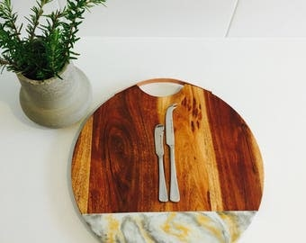 Large resin serving board