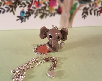 Rock'n pet, elephant pendent necklace, animal pendent, animal necklace