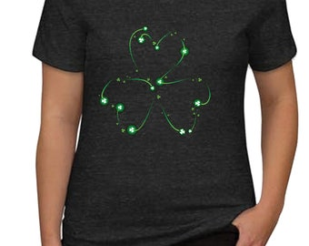 CUTOFF Mar13USA Outline Shamrock Shirt - Shamrock Shirt - Irish Celebration shirt - St Patrick's Day Shirt - Irish drinking shirt